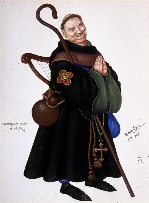 The Canterbury Tales Friar Clipart.