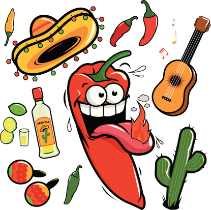 Peppers mexican restaurant and cantina logo clipart.