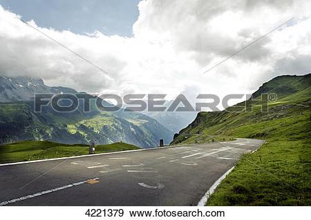 Stock Photograph of Klausenpass, Canton Glarus, Kanton Uri.