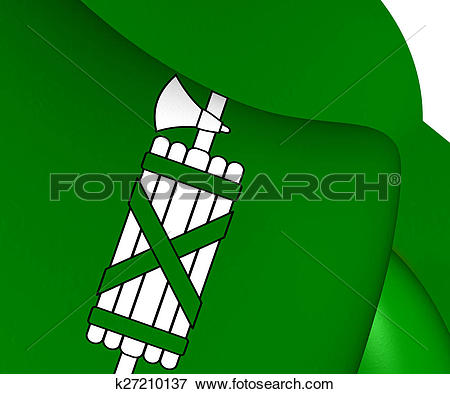 Stock Illustration of Flag of St. Gallen Canton, Switzerland.