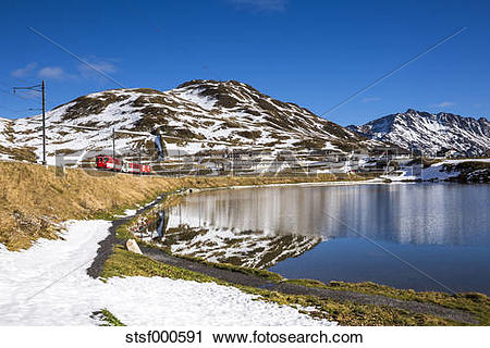 Stock Photography of Switzerland, Canton of Uri, Lake Oberalpsee.