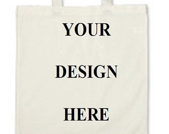 Custom Gift Bag Cotton Canvas Tote Bag Mini Tote by lcdezines.