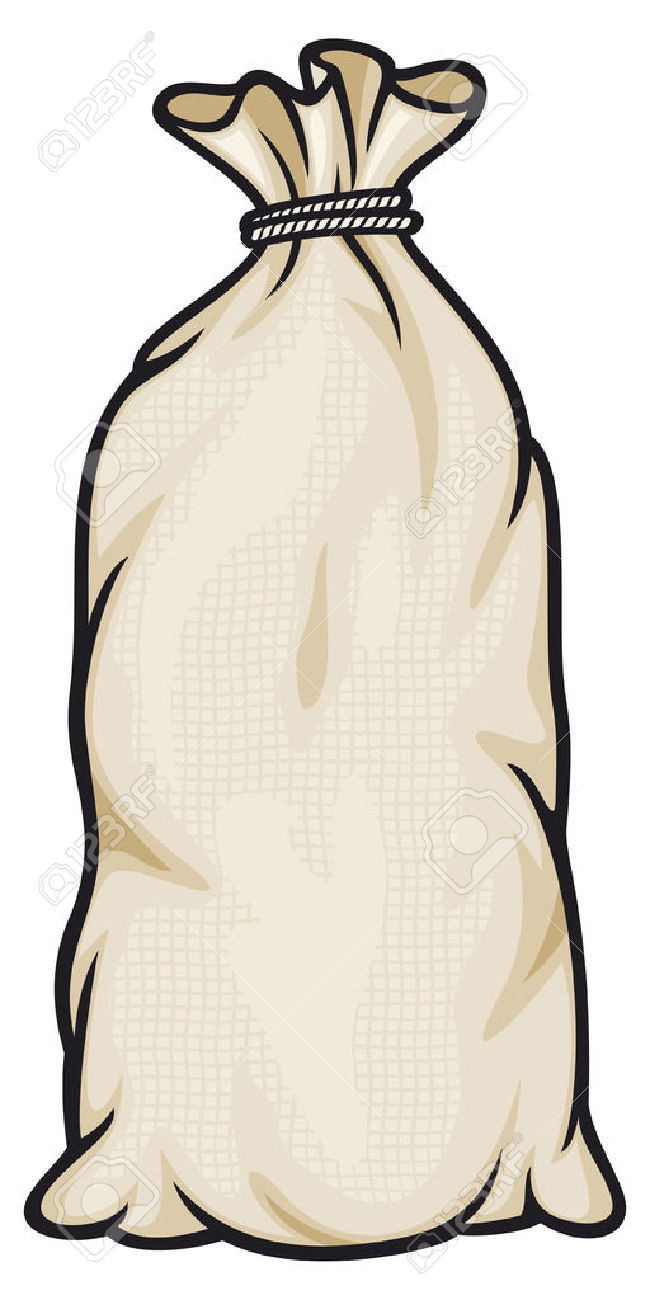 Burlap Sack Bag Canvas Bag, Full Sack Royalty Free Cliparts.