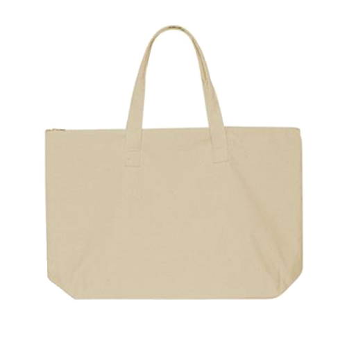 10oz Canvas Tote Bag with Zipper Top by Liberty Bags.