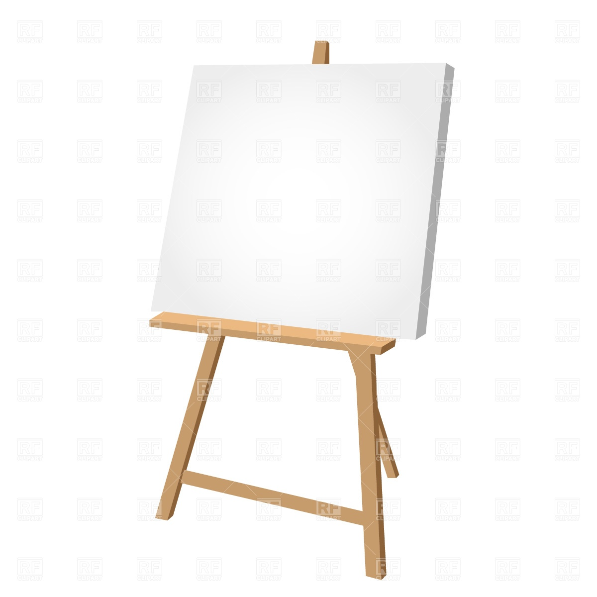 Artist Canvas Clipart.
