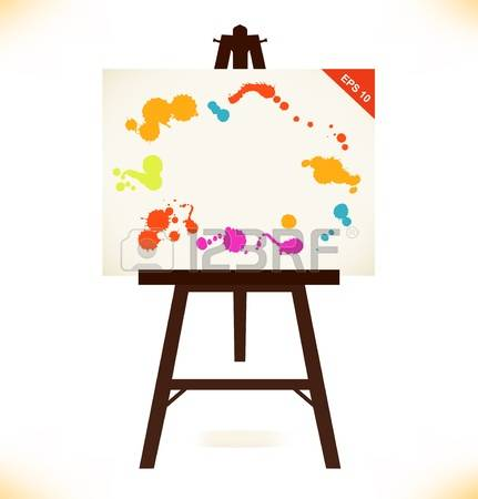 4,376 Easel Canvas Stock Vector Illustration And Royalty Free.