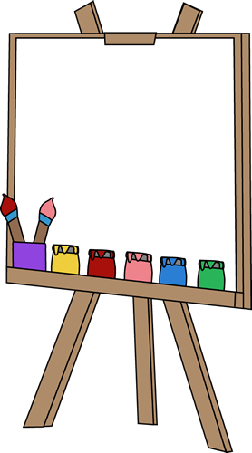 Artist Canvas Clipart.