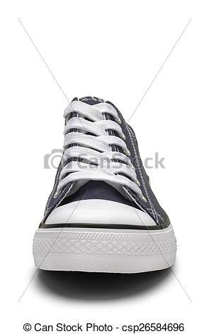 Stock Photographs of Blue Canvas Shoe.