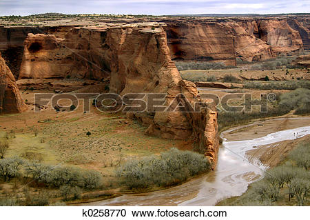 Stock Photography of Canyon de Chelly k0258770.