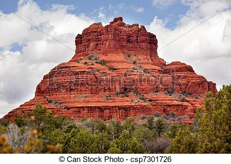 Pictures of Snoopy Rock Butte Orange Red Rock Canyon Sedona.