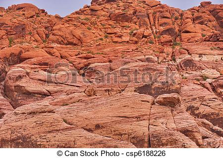 Stock Image of Red Rock Canyon Wall.