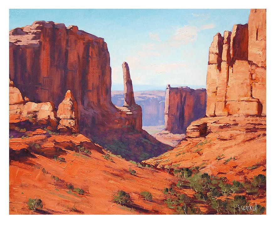 Canyon Landscape Clip Art.