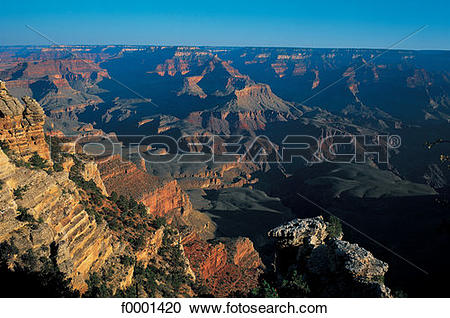 Stock Photography of Arizona, Grand Canyon, view of Mather Point.