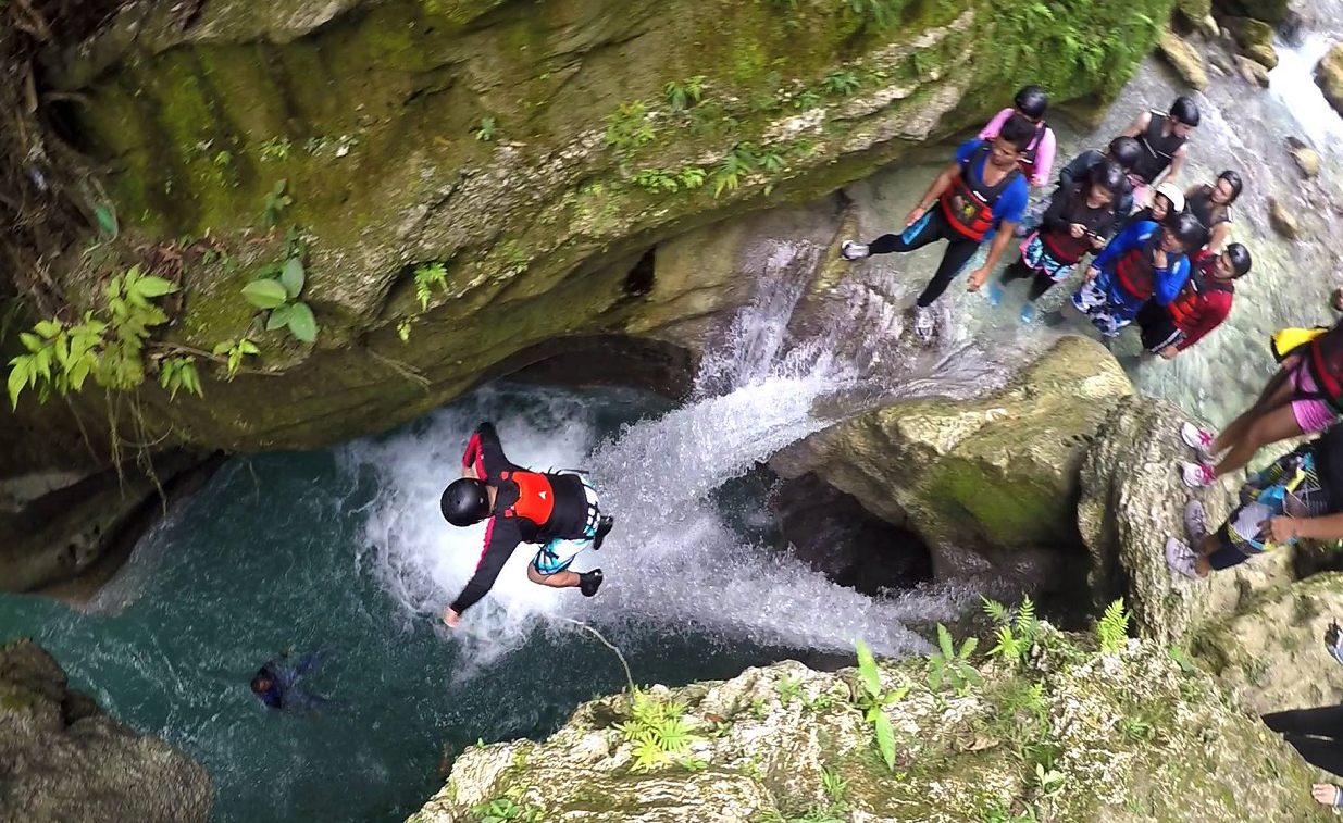 Kawasan Falls and Canyoneering ~ Bohol Island Tour.