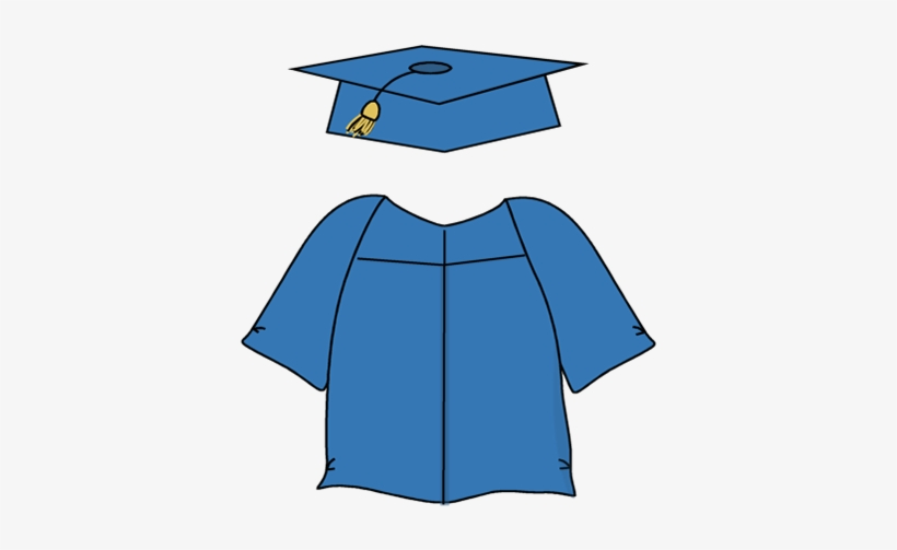 Graduation Cap And Gown Clipart.