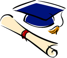 82+ Graduation Cap And Gown Clipart.