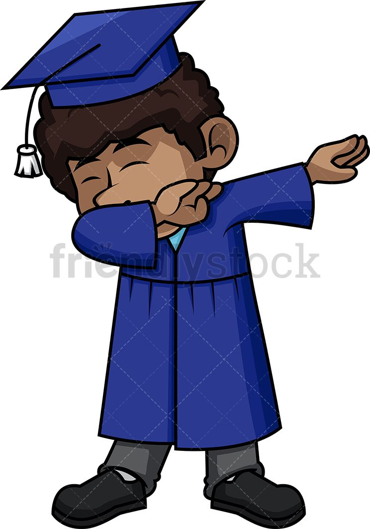 Black Boy Graduate Dabbing.