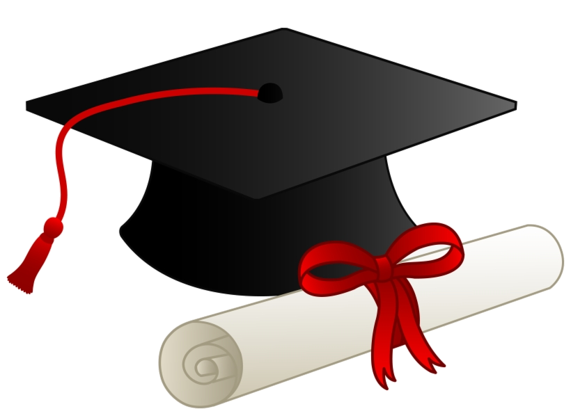 High School Cap And Gown Graduation Clipart Free Transparent Png.