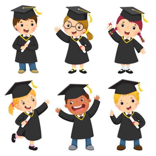 Best Kindergarten Graduation Caps And Gowns Illustrations, Royalty.