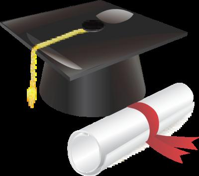 Red graduation cap clipart kid.
