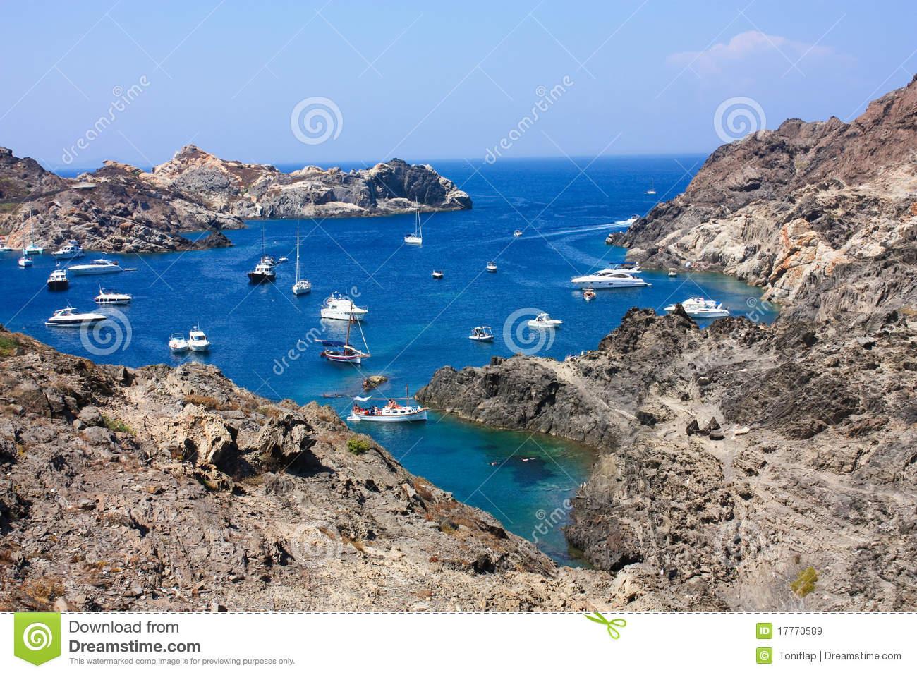 Boats At Cap De Creus, Gerona. Costa Brava. Spain Royalty Free.