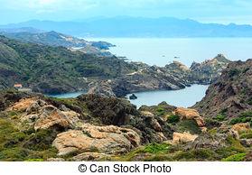 Stock Photography of Lighthouse on Cap de Creus, Spain.