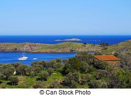 Stock Photos of Cape of Cap de Creus peninsula, Catalonia, Spain.