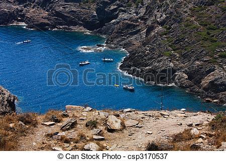 Picture of Boats at Cap de Creus, Gerona. Costa Brava. Spain.
