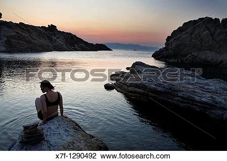 Stock Photo of Culler? cove Cap de Creus Natural Park Landscape.