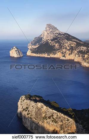 Stock Image of Spain, Balearic Islands, Majorca, Cap de Formentor.