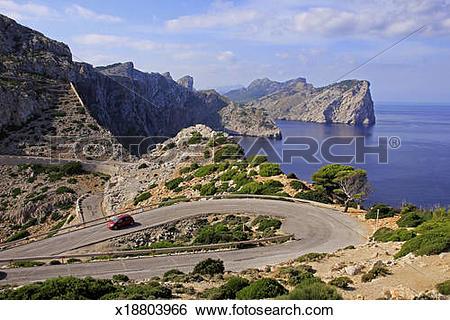 Stock Images of Mallorca, Cap de Formentor, Spain x18803966.