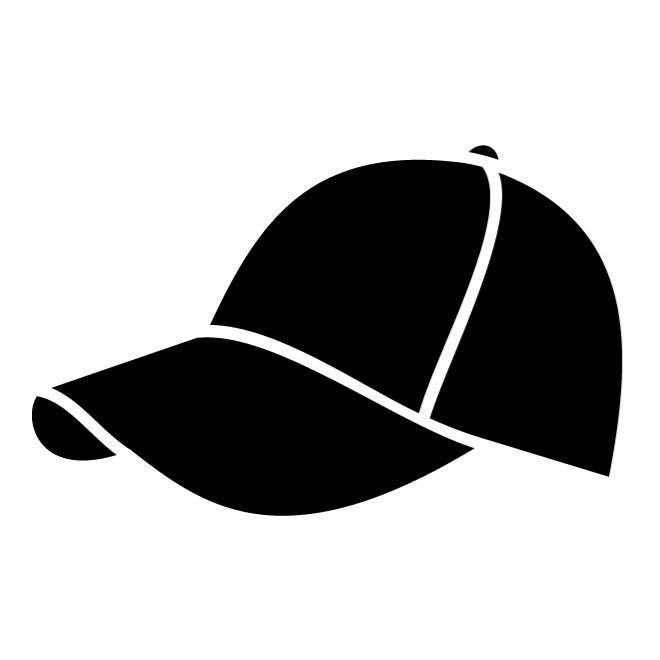 baseball cap silhouette.