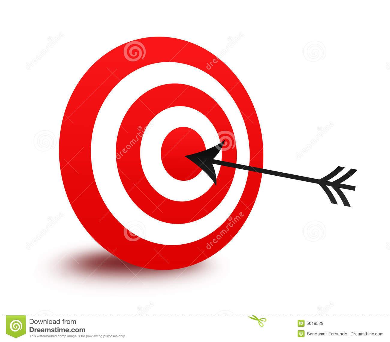 Bullseye With Arrow Clipart.