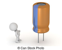 Clipart of Electrolytic capacitors csp3980101.