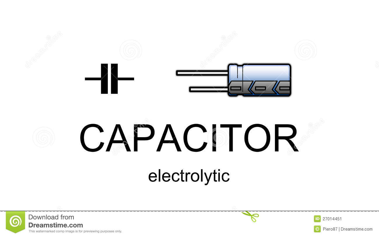 Capacitors Clipart Clipground In Circuit Symbol For Capacitor