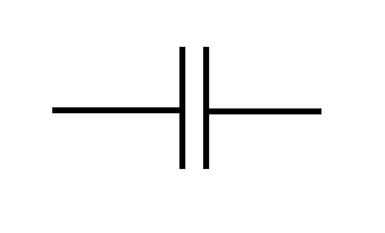 Polyester Capacitor Symbol.