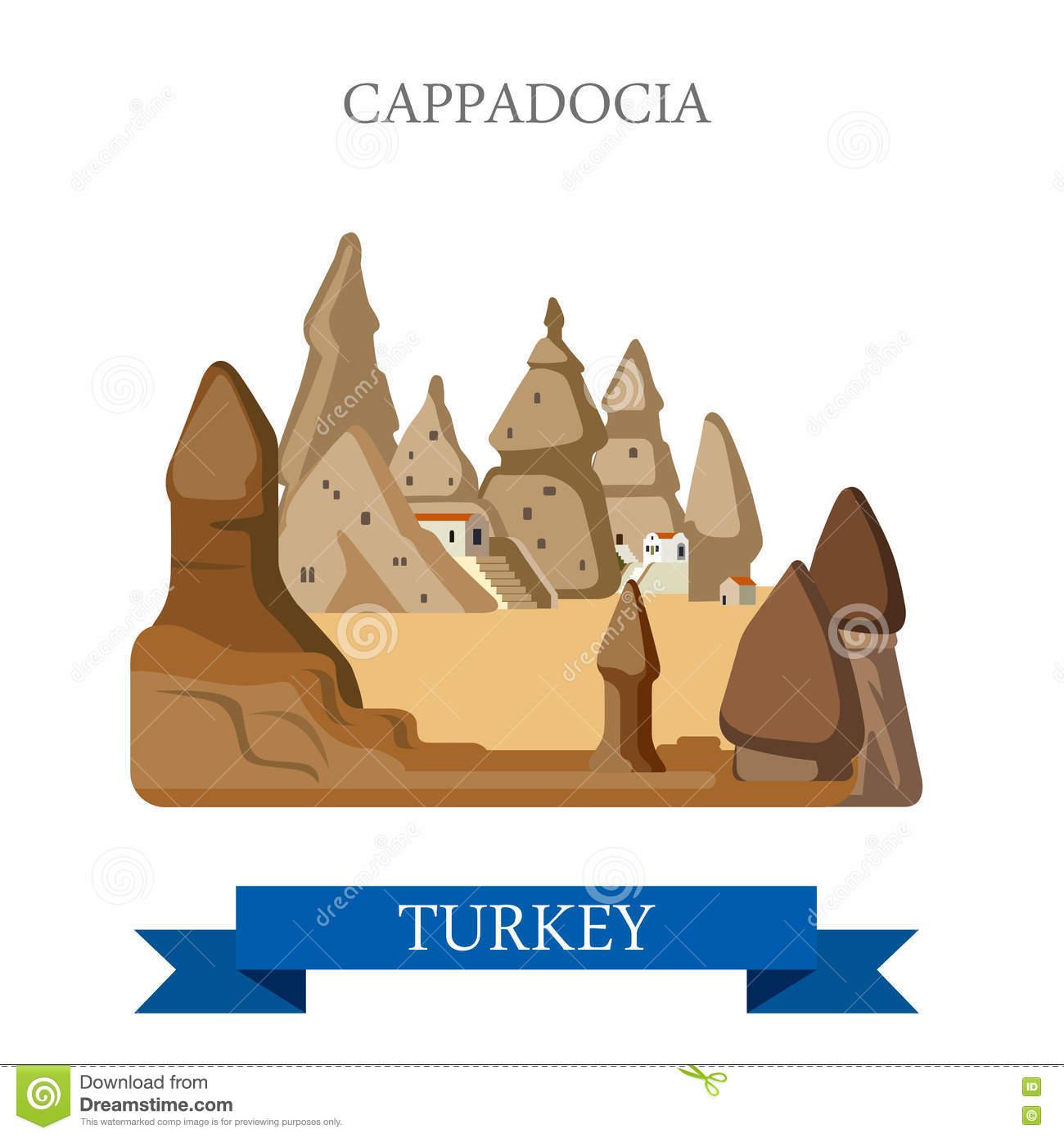 Cappadocia Stock Illustrations.