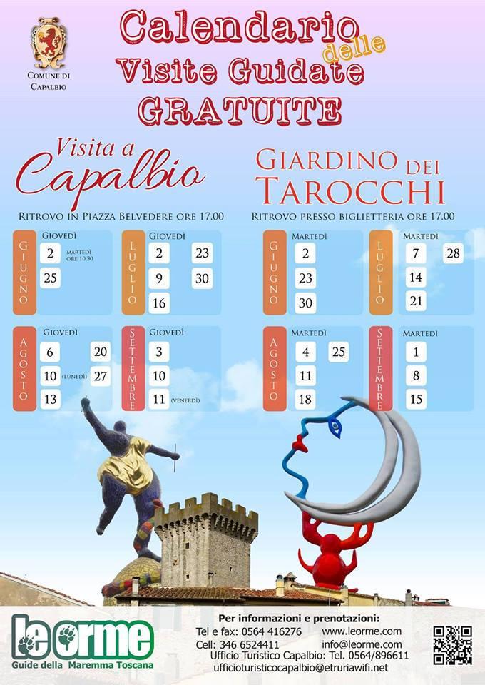 Visite guidate gratuite a Capalbio e il Giardino dei Tarocchi, da.