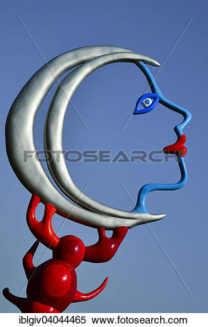 "Stock Image of ""Colorful sculpture in the Giardino dei Tarocchi or."