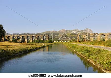 Stock Photo of Turkey, Serik, ancient town Aspendos, Aqueduct.