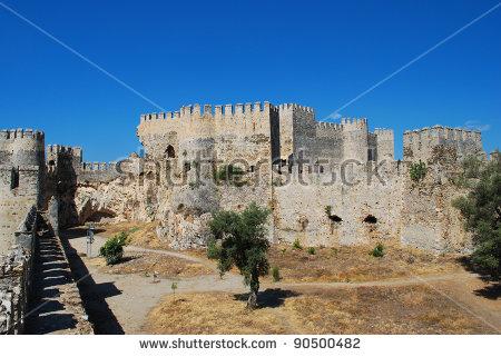 Huge 15th Century Fortress Kumbhalgarh Rajasthan Stock Photo.