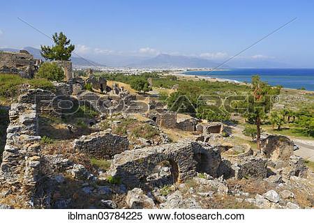 "Stock Image of ""Necropolis, ancient city Anemurium, Anamur, Mersin."