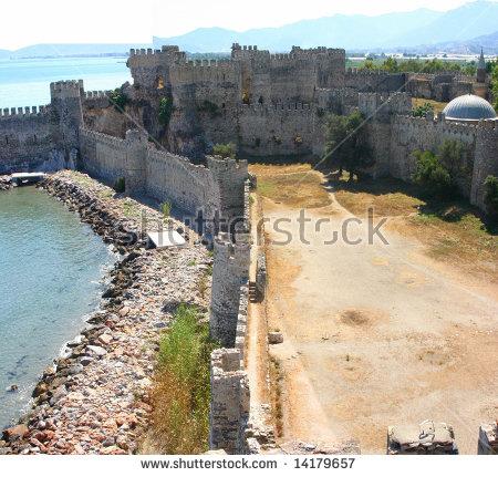 Mumure Castle Tower Crenellationsembrasuresparapet Merlons Sea.