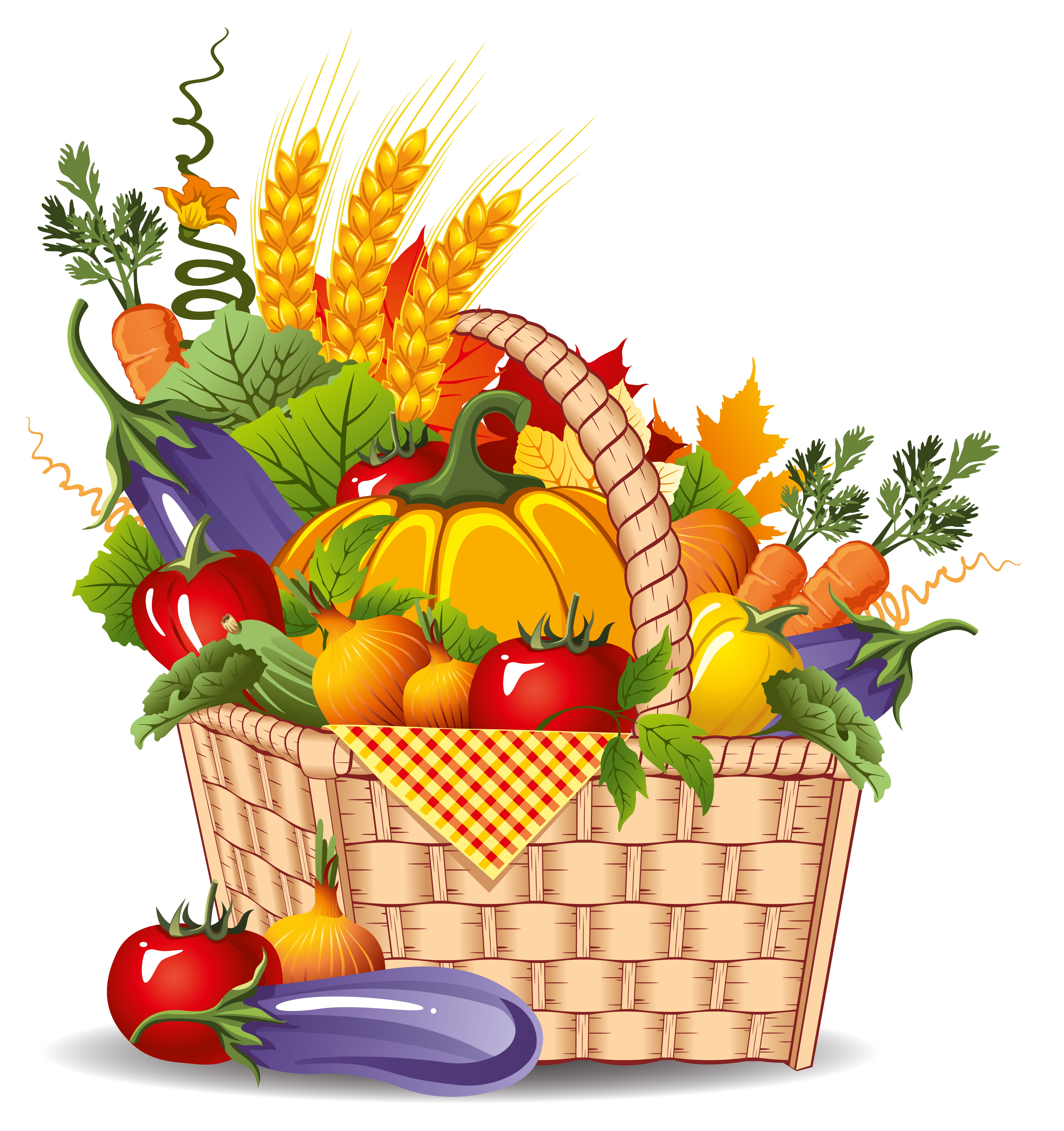 Harvest Basket Clipart.