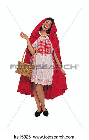 Stock Image of Characters, Basket, Cape, Characters, Little Red.