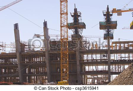 Stock Photography of Construction of the new Olympic Ctadium,Cape.