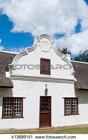 Stock Photography of Cape Dutch architecture k13689141.