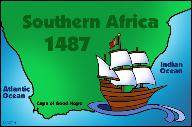 Free Explorers Clip Art by Phillip Martin, Cape of Good Hope.