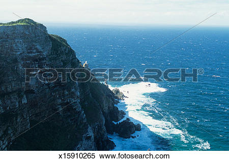 Stock Image of Cape Point, Cape of Good Hope, South Africa.