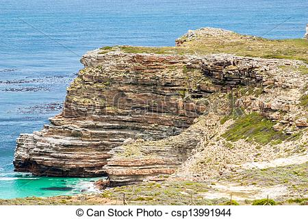 Stock Photo of Cape of Good Hope. Cape Peninsula Atlantic ocean.